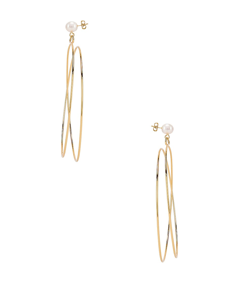 Image 3 of Rachel Comey Sphere Earrings in Gold