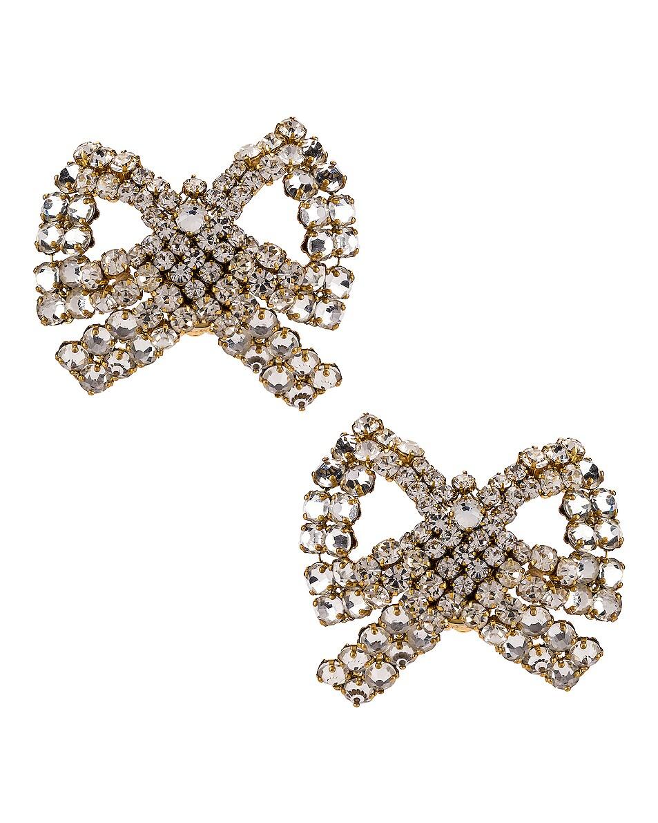 Image 1 of Rebecca De Ravenel Tie Me Up Crystal Earrings in Crystal