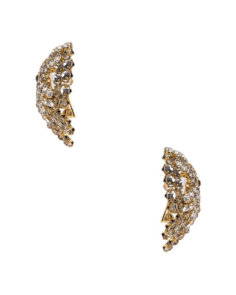 Image 3 of Rebecca De Ravenel Tie Me Up Crystal Earrings in Crystal