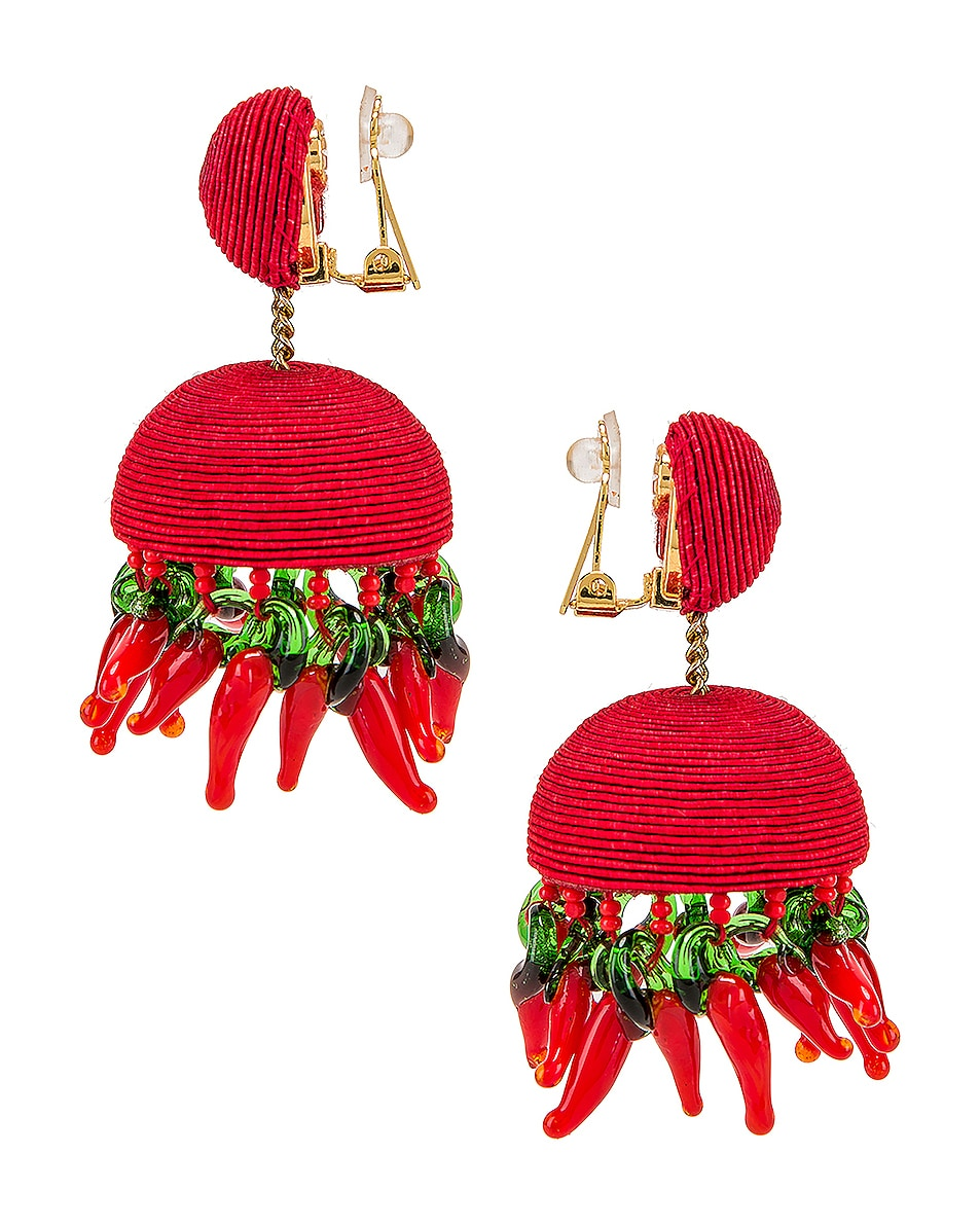 Image 3 of Rebecca De Ravenel Paprika Earrings in Red