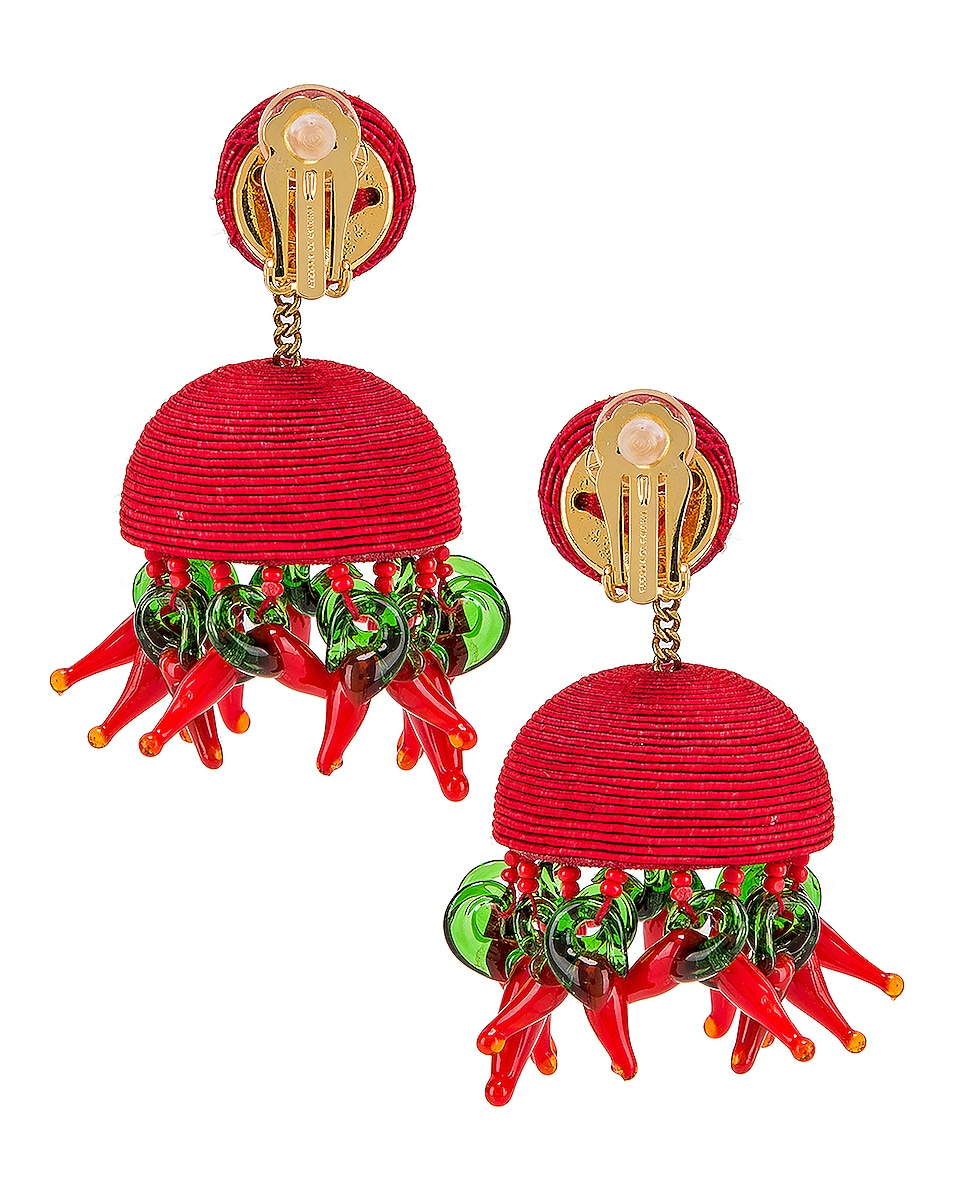Image 4 of Rebecca De Ravenel Paprika Earrings in Red