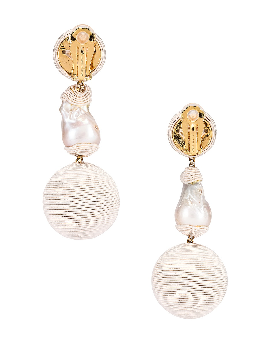 Image 4 of Rebecca De Ravenel Gem Bonbons Earrings in White & Pearl