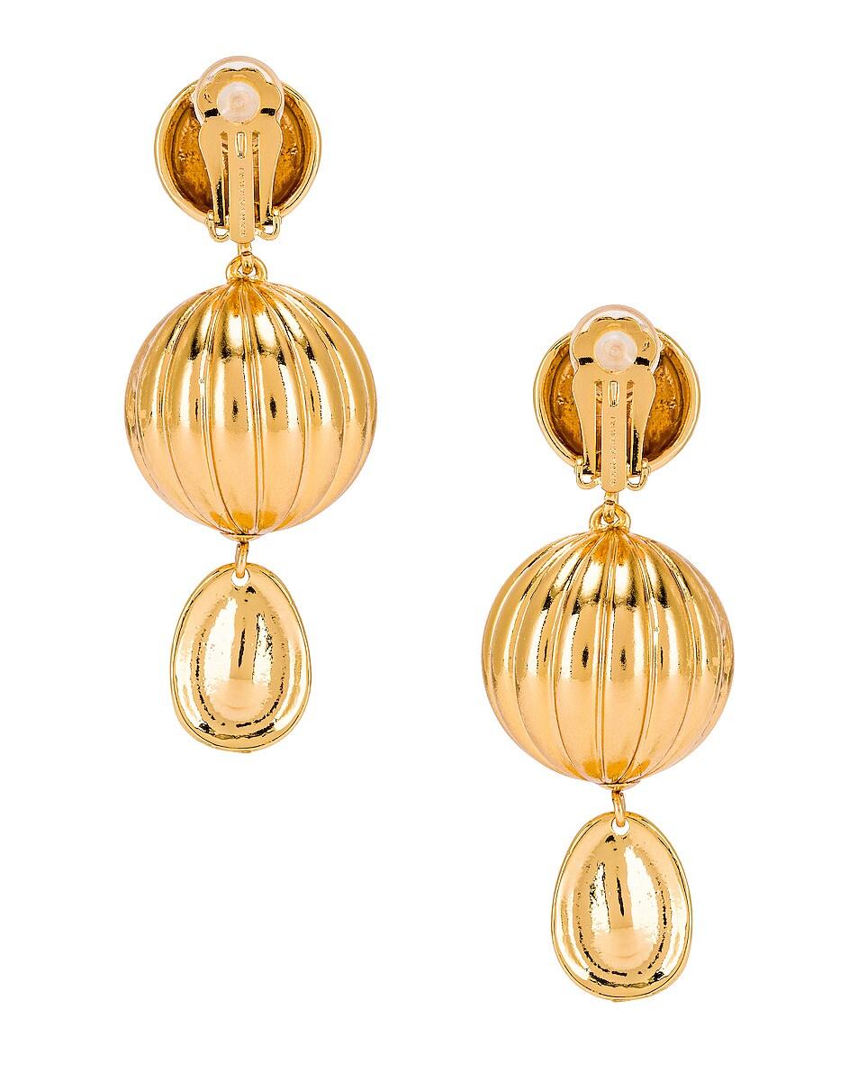 Image 4 of Rebecca De Ravenel Be Charmed Earrings in Gold