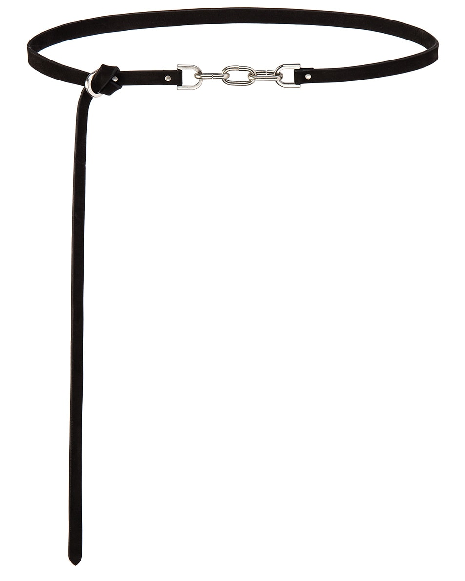 Image 2 of Rick Owens Leather Chain Belt in Black