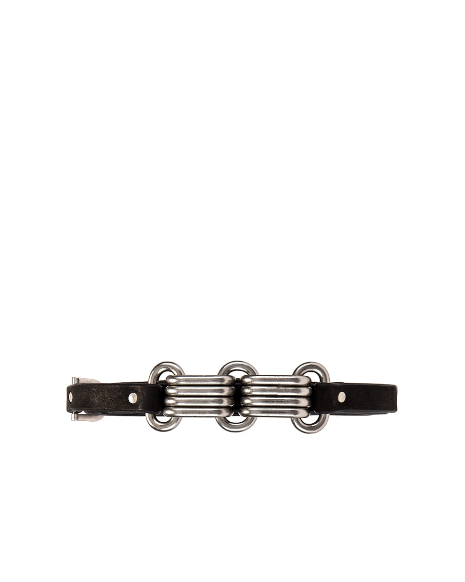 Image 1 of Rick Owens Leather Epaulette Belt in Black