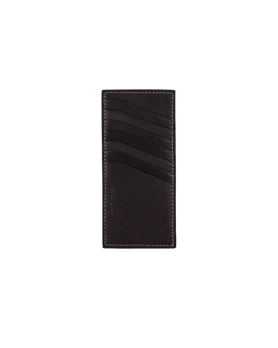Image 1 of Rick Owens Vertical CC Holder in Black