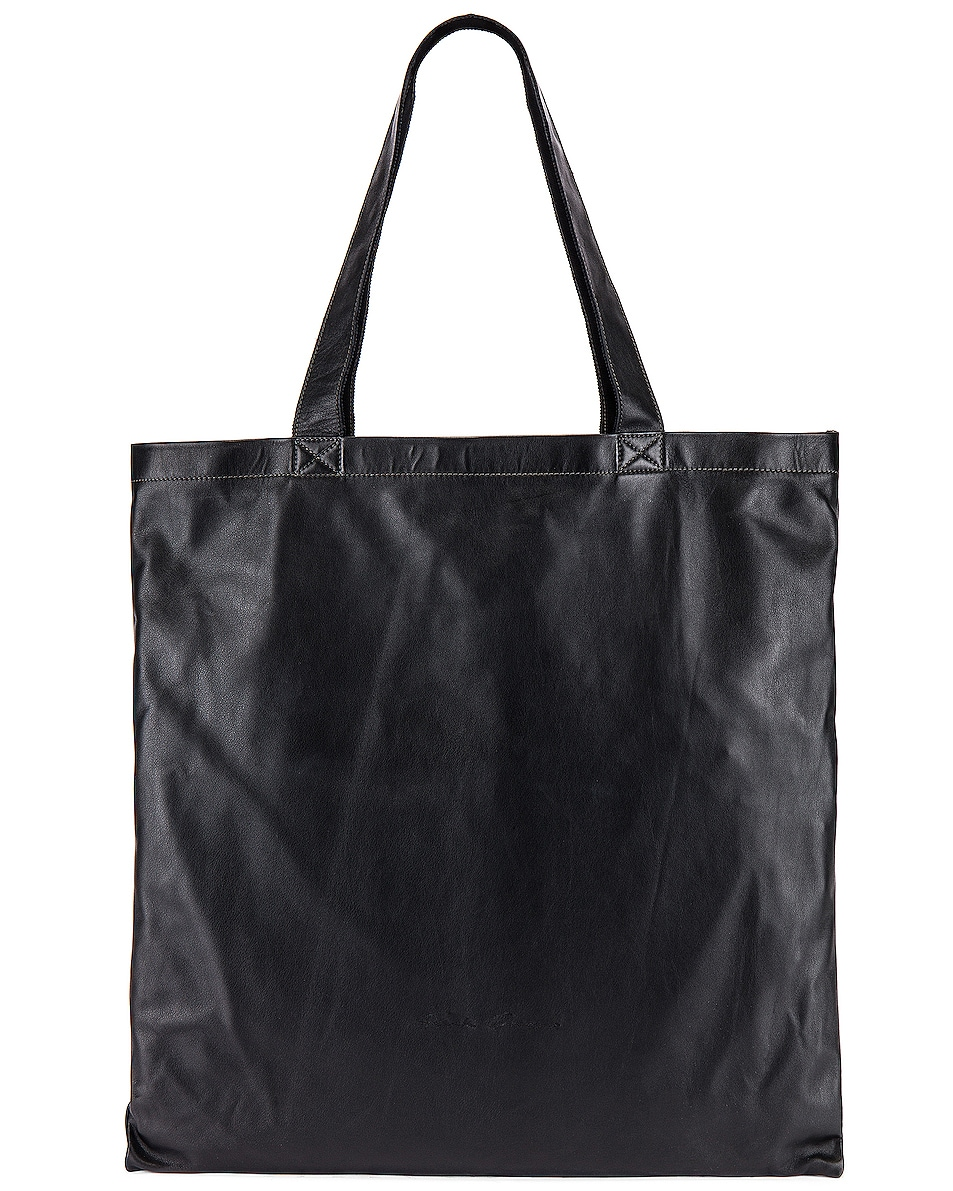 Image 1 of Rick Owens Large Signature Tote in Black