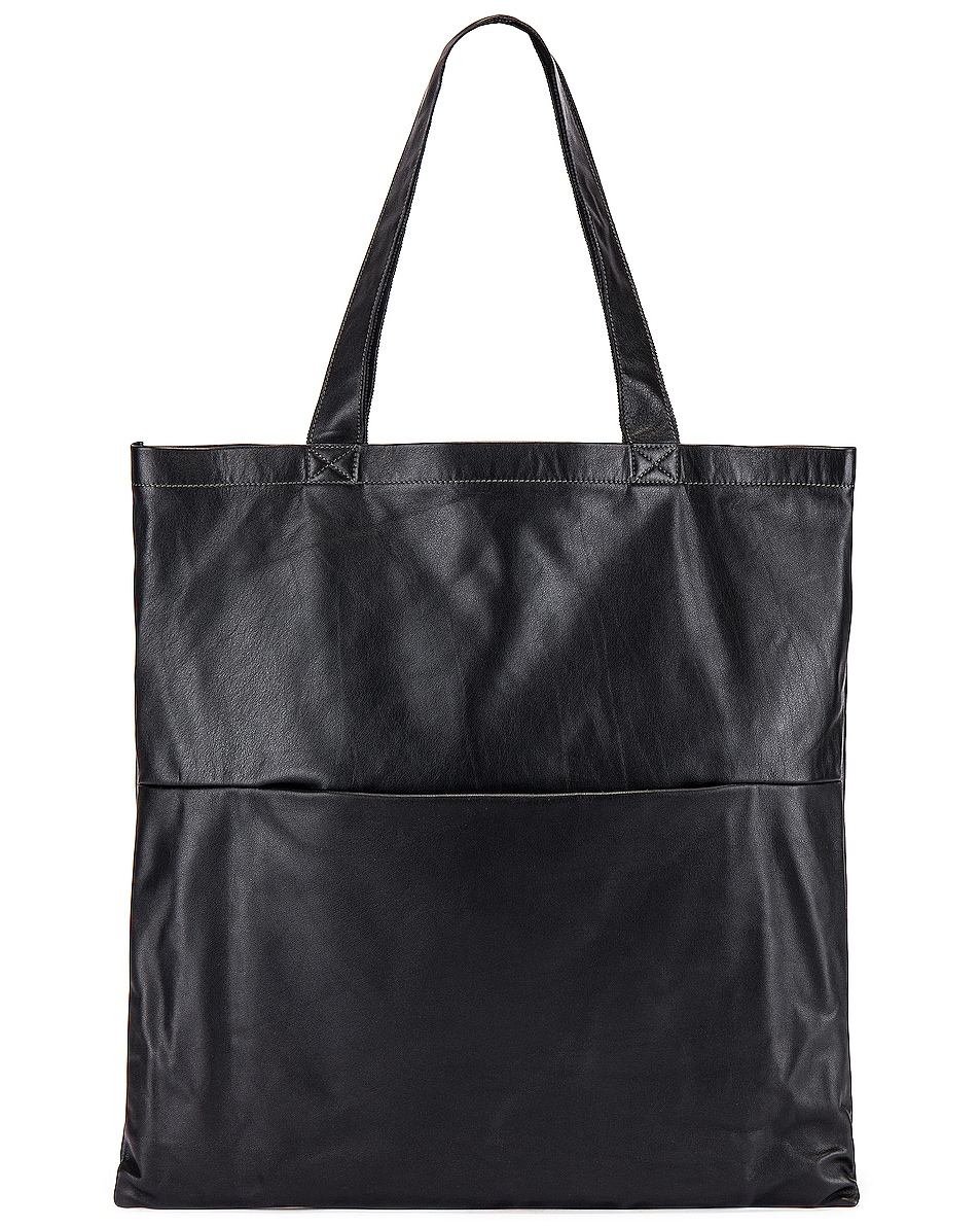 Image 2 of Rick Owens Large Signature Tote in Black