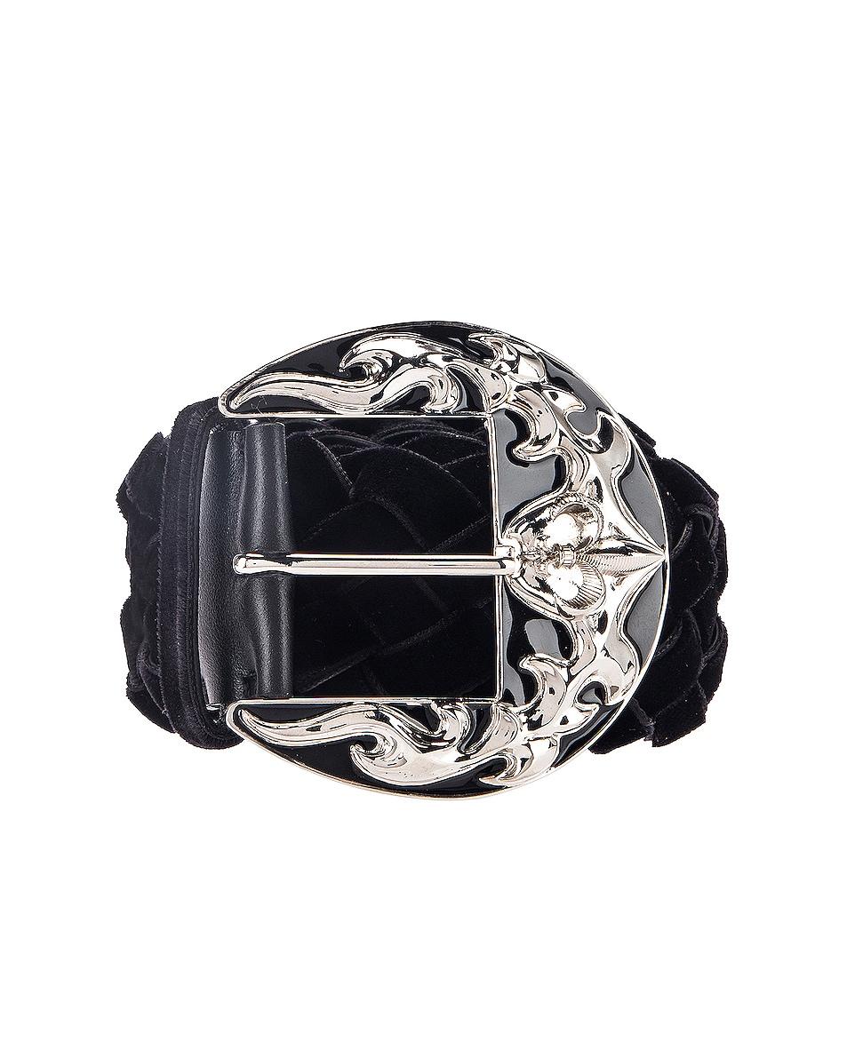 Image 1 of Redemption Velvet Belt in Black