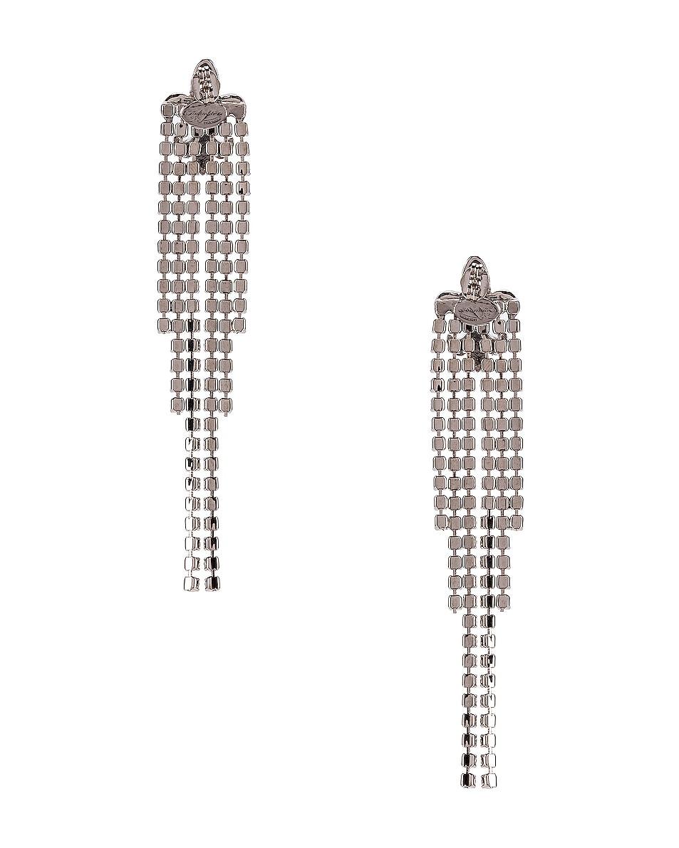 Image 4 of Redemption Fleur de Lis Crystal Earrings in Silver