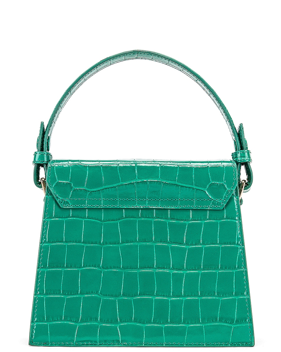 Image 3 of RIXO Jemima Bag in Emerald Croc Leather