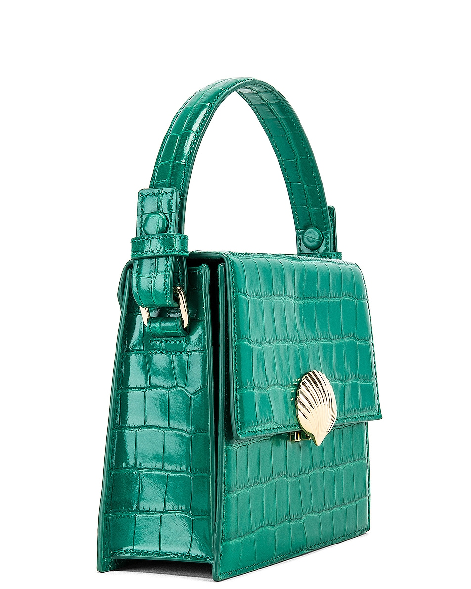 Image 4 of RIXO Jemima Bag in Emerald Croc Leather