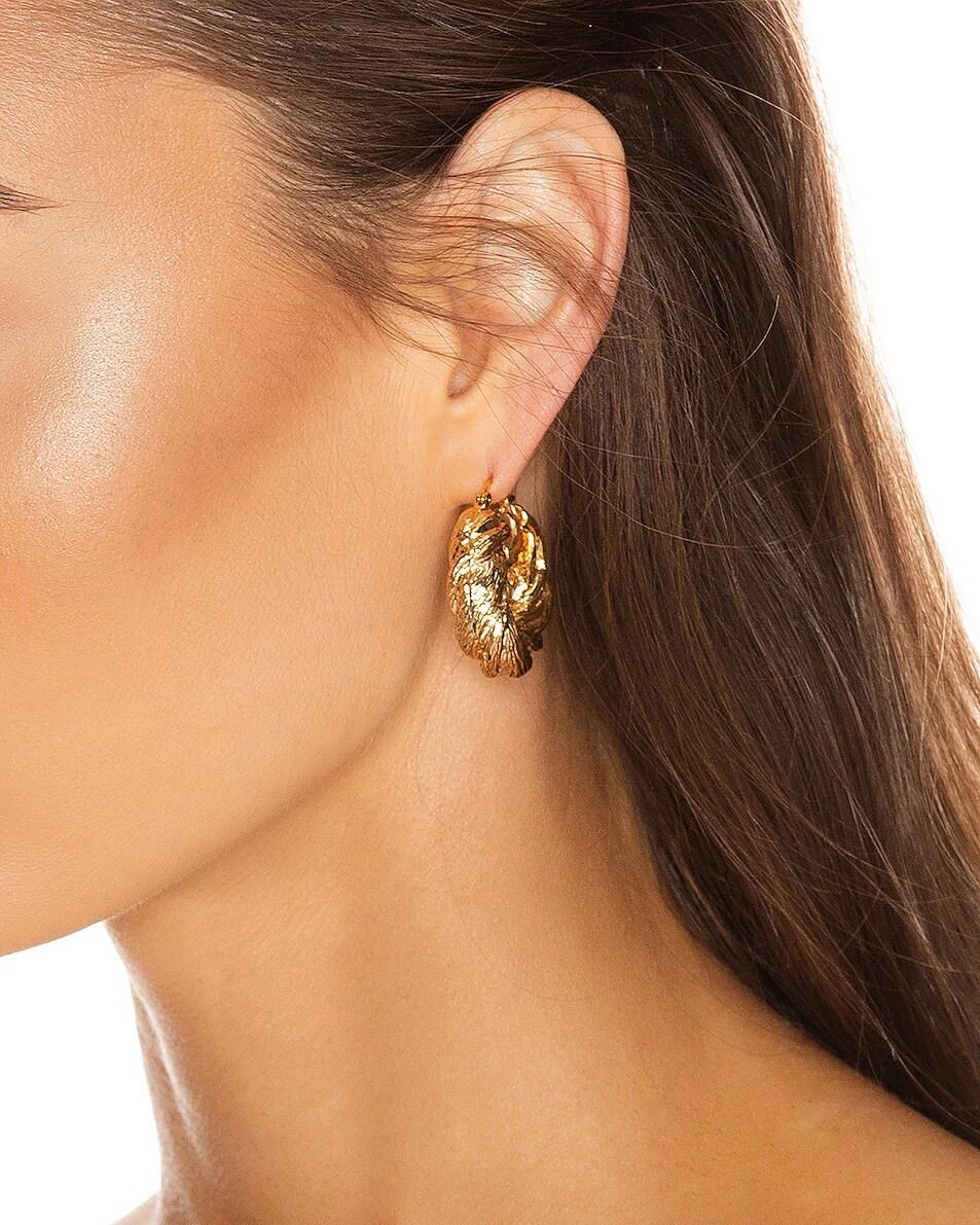 Image 2 of REJINA PYO Twist Hoop Earrings in Gold Plated