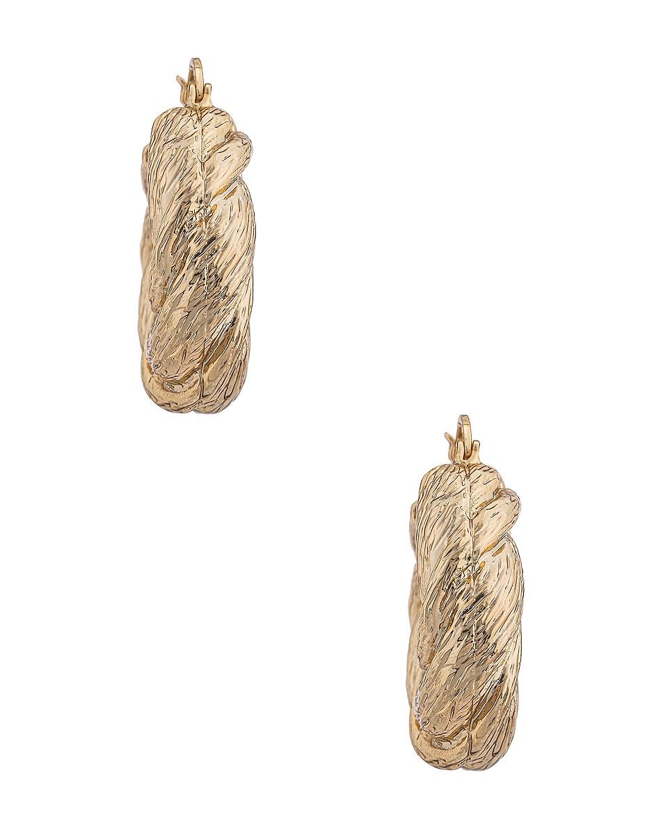 Image 3 of REJINA PYO Twist Hoop Earrings in Gold Plated