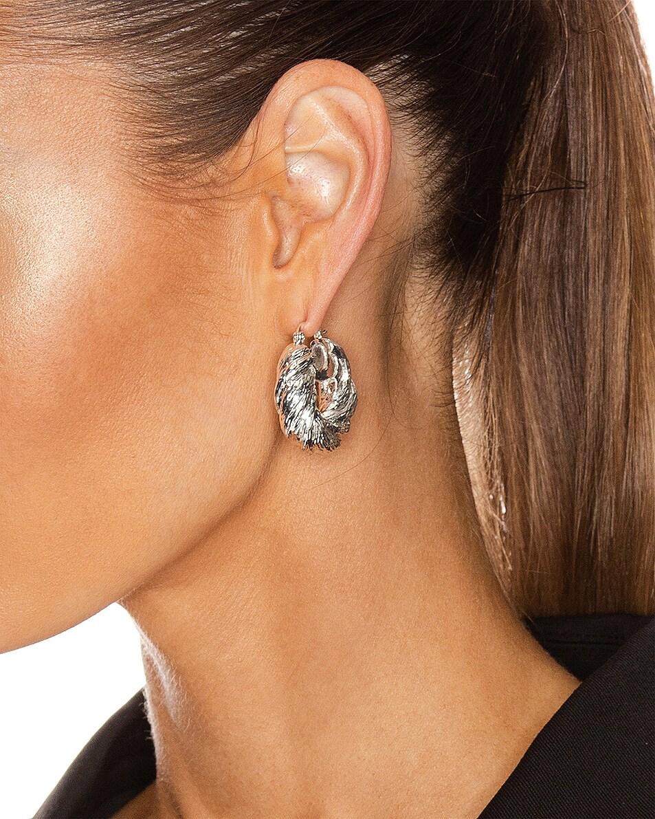 Image 2 of REJINA PYO Twist Hoop Earrings in Silver Plated