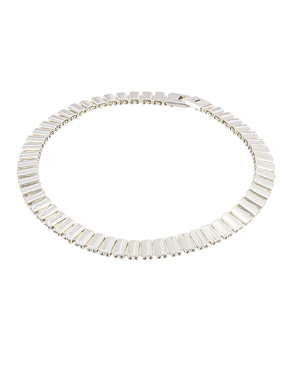 Image 1 of REJINA PYO Elise Choker in Silver Plated