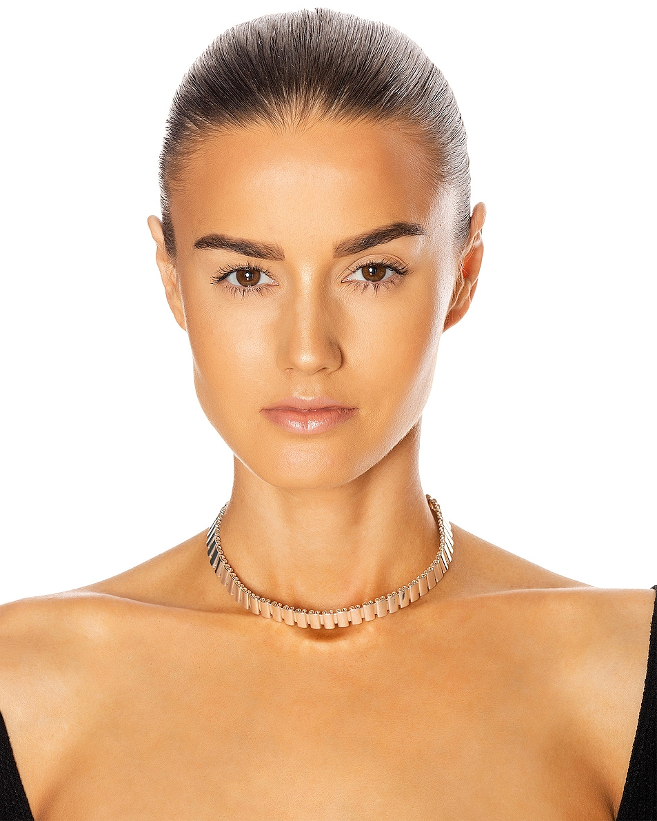 Image 2 of REJINA PYO Elise Choker in Silver Plated