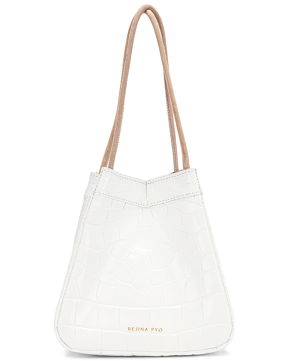 Image 1 of REJINA PYO Rita Bag in Croc White