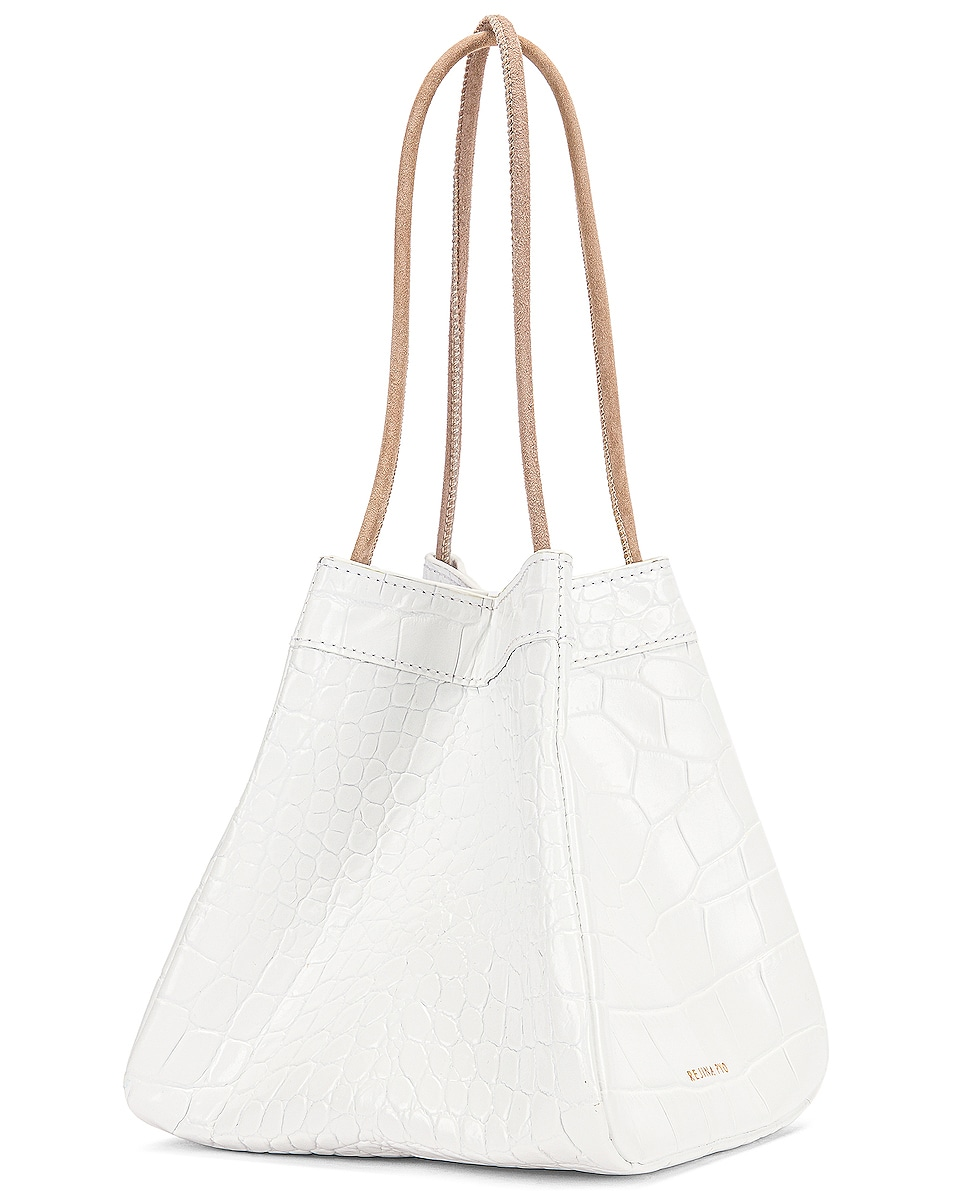 Image 4 of REJINA PYO Rita Bag in Croc White