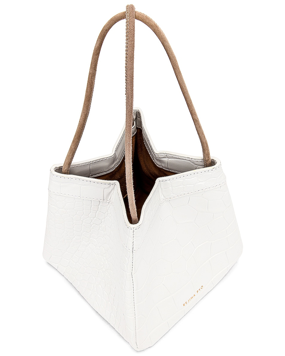 Image 5 of REJINA PYO Rita Bag in Croc White