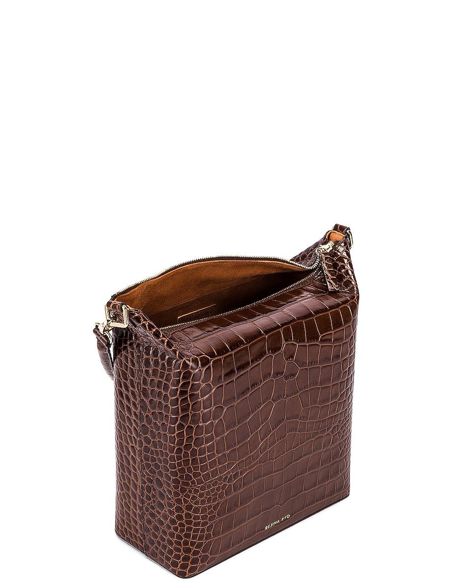 Image 5 of REJINA PYO Lucie Bag in Croc Brown