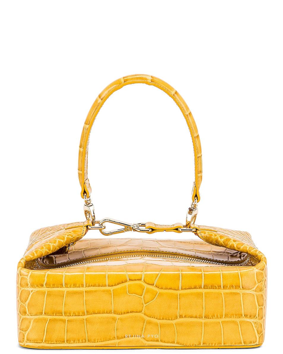 Image 1 of REJINA PYO Olivia Bag in Croc Yellow