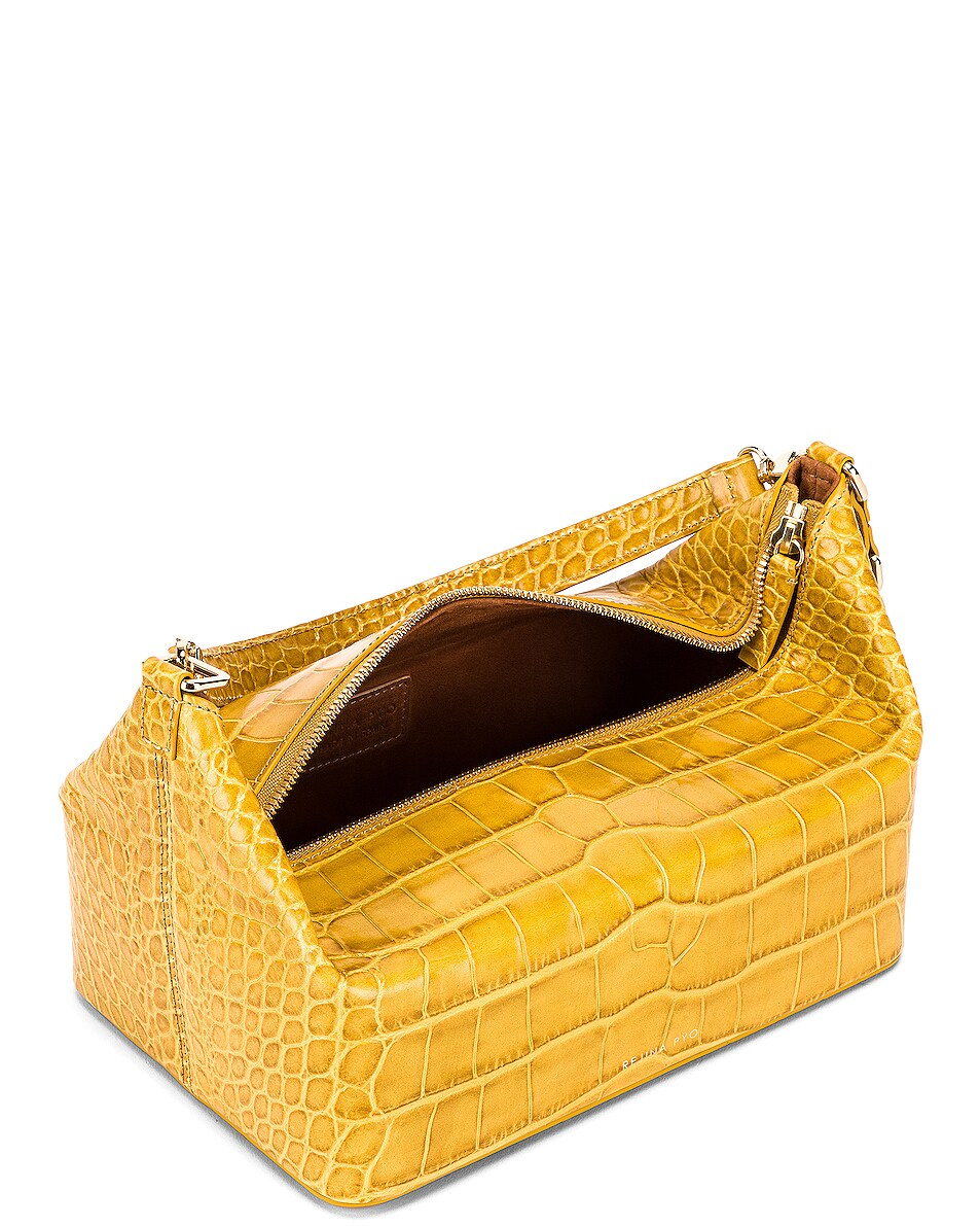 Image 5 of REJINA PYO Olivia Bag in Croc Yellow