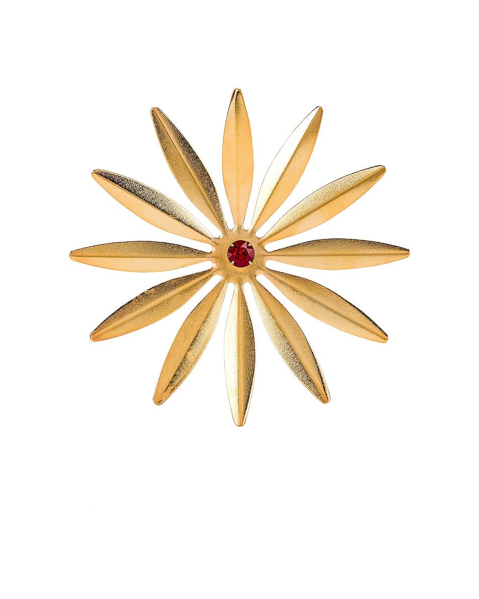 Image 1 of Rodarte Daisy Barrette in Gold