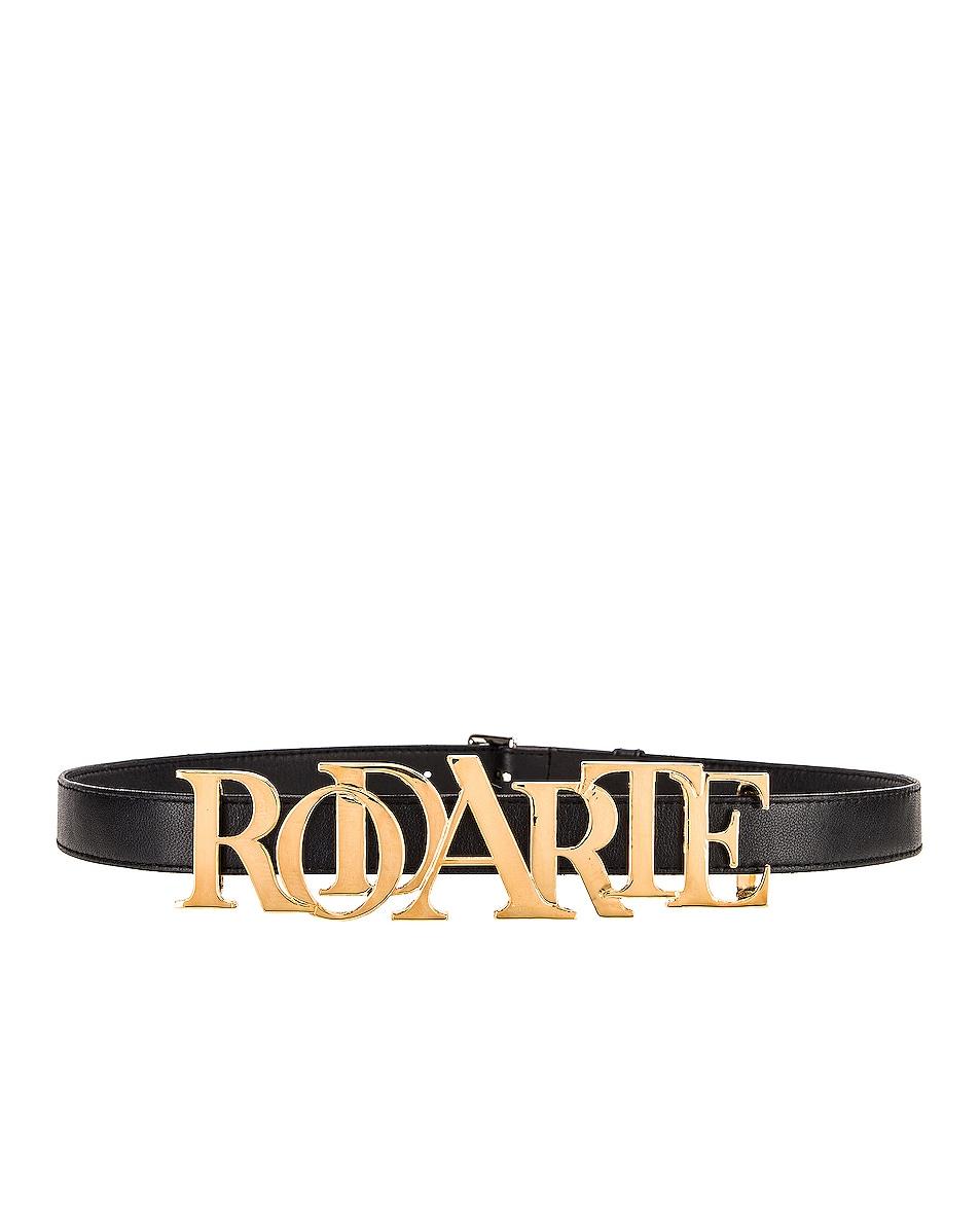 Image 1 of Rodarte Buckle Belt in Gold & Black