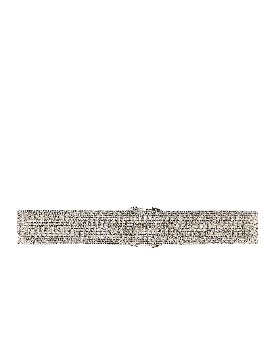 Image 3 of RAISA&VANESSA Crystal Belt in Silver