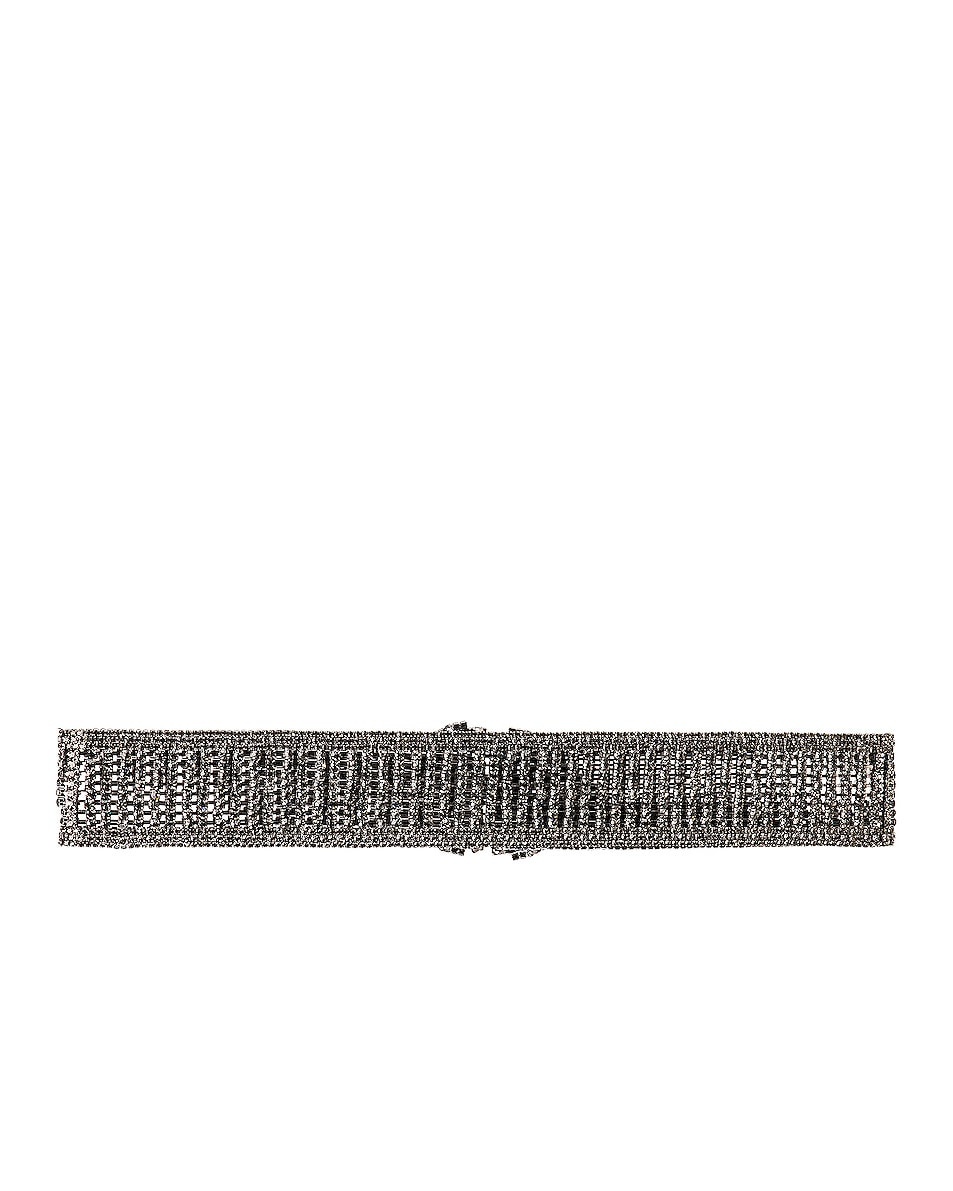 Image 3 of RAISA&VANESSA Crystal Belt in Dark Grey