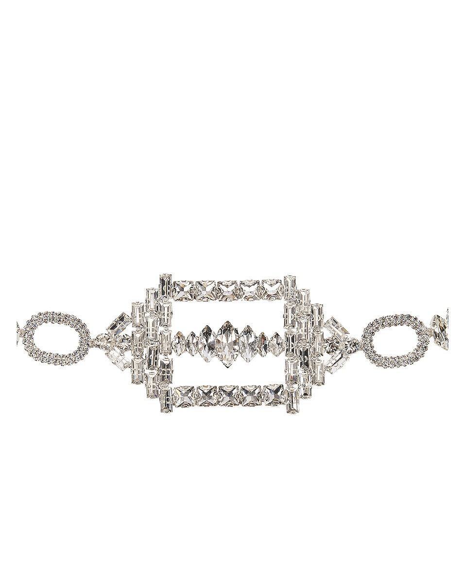 Image 3 of RAISA&VANESSA Hexagon Buckled Chain Belt in Silver