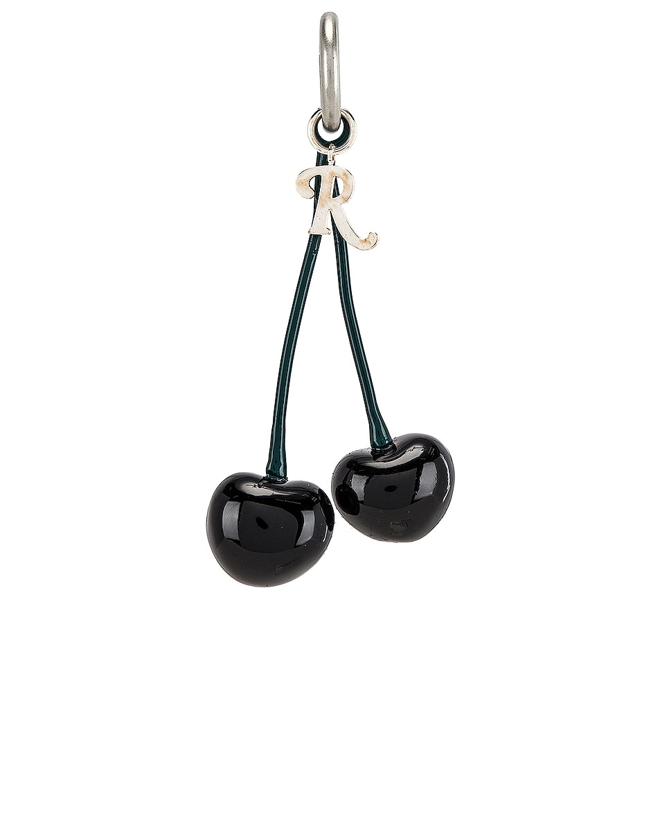 Image 1 of Raf Simons Double Cherry Charm in Black