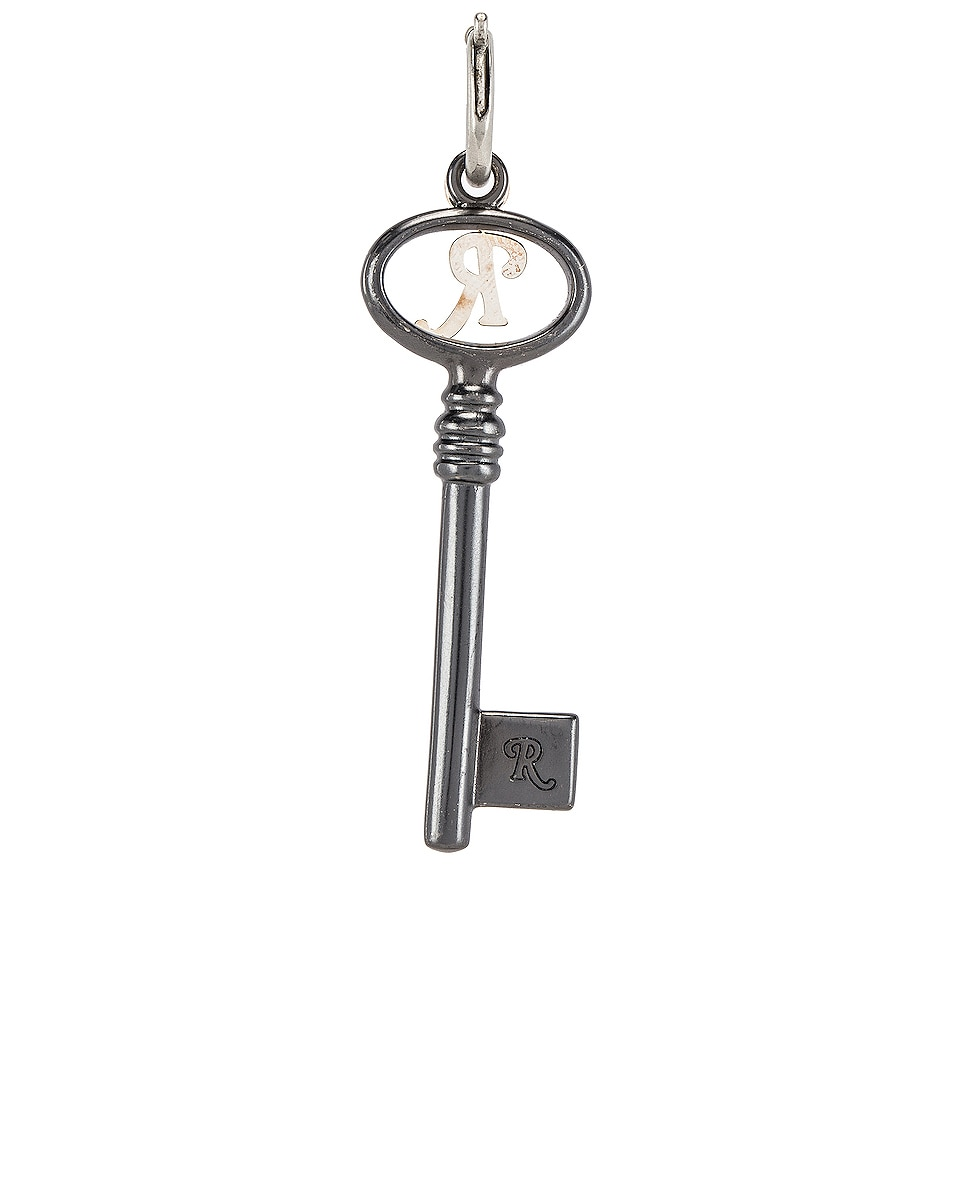 Image 2 of Raf Simons Key Charm in Silver
