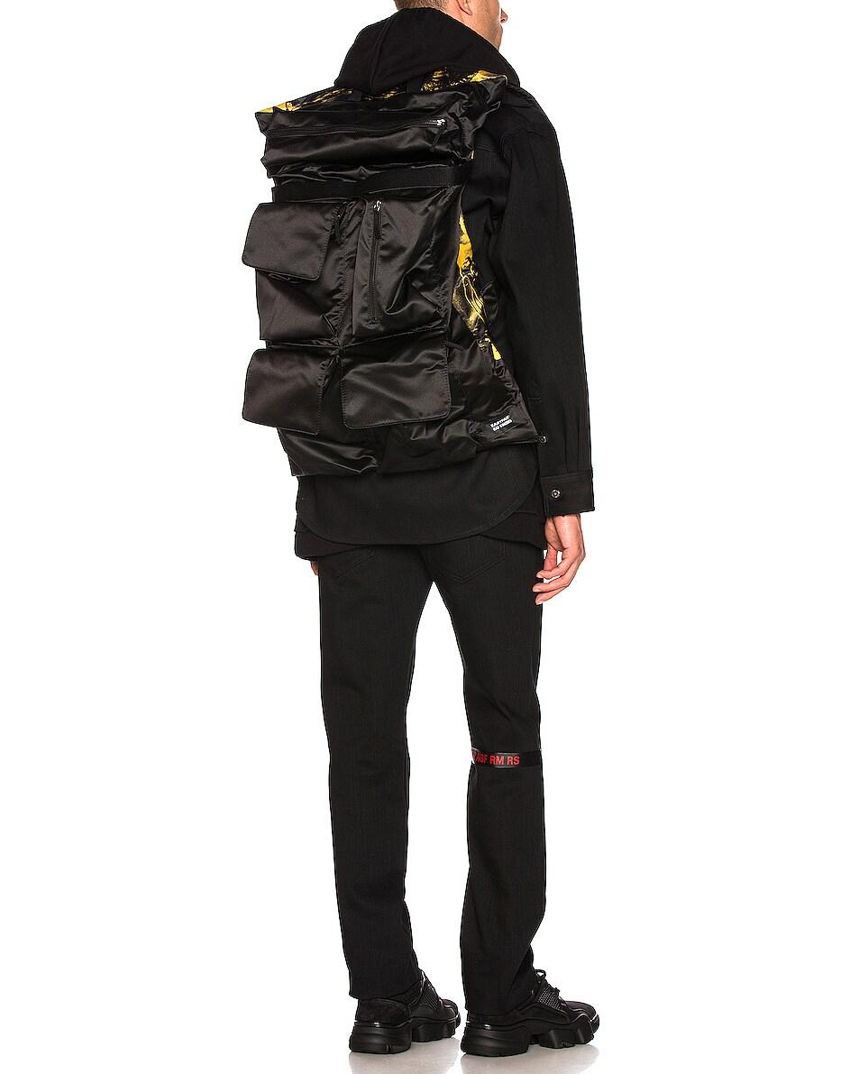 Image 2 of Raf Simons Eastpak Poster Backpack in Black