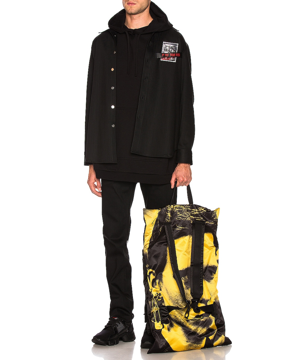 Image 3 of Raf Simons Eastpak Poster Backpack in Black