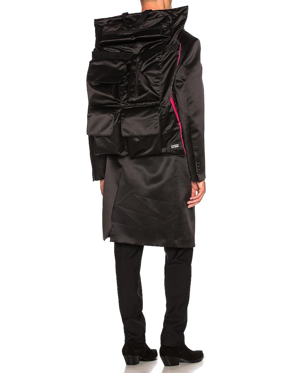 Image 2 of Raf Simons Eastpak Poster Backpack in Black & Fuchsia
