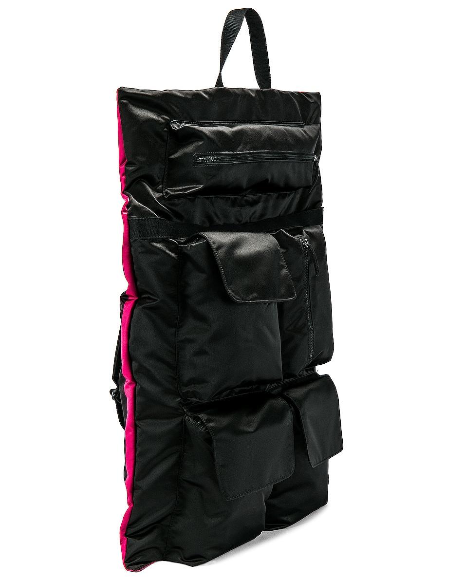 Image 5 of Raf Simons Eastpak Poster Backpack in Black & Fuchsia