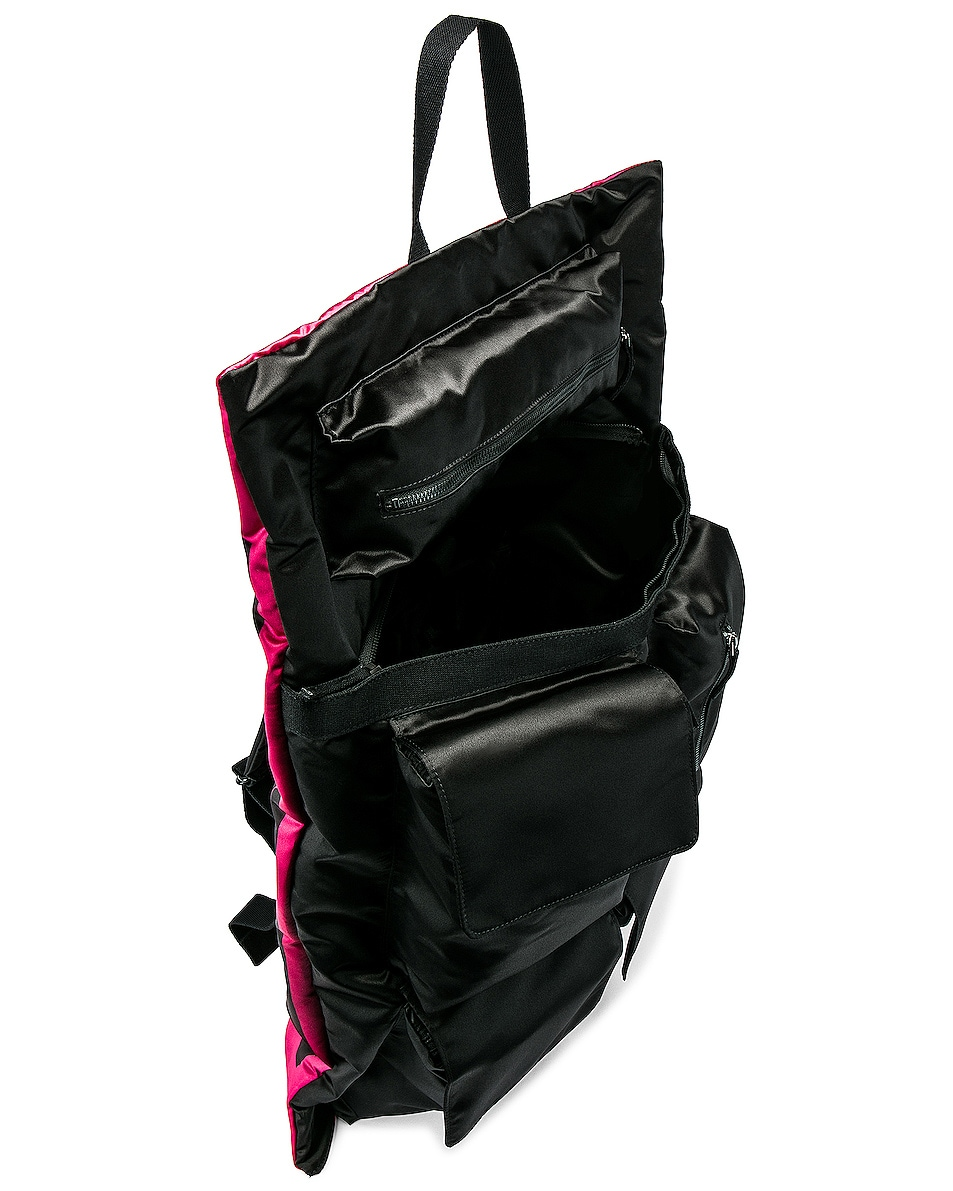 Image 6 of Raf Simons Eastpak Poster Backpack in Black & Fuchsia