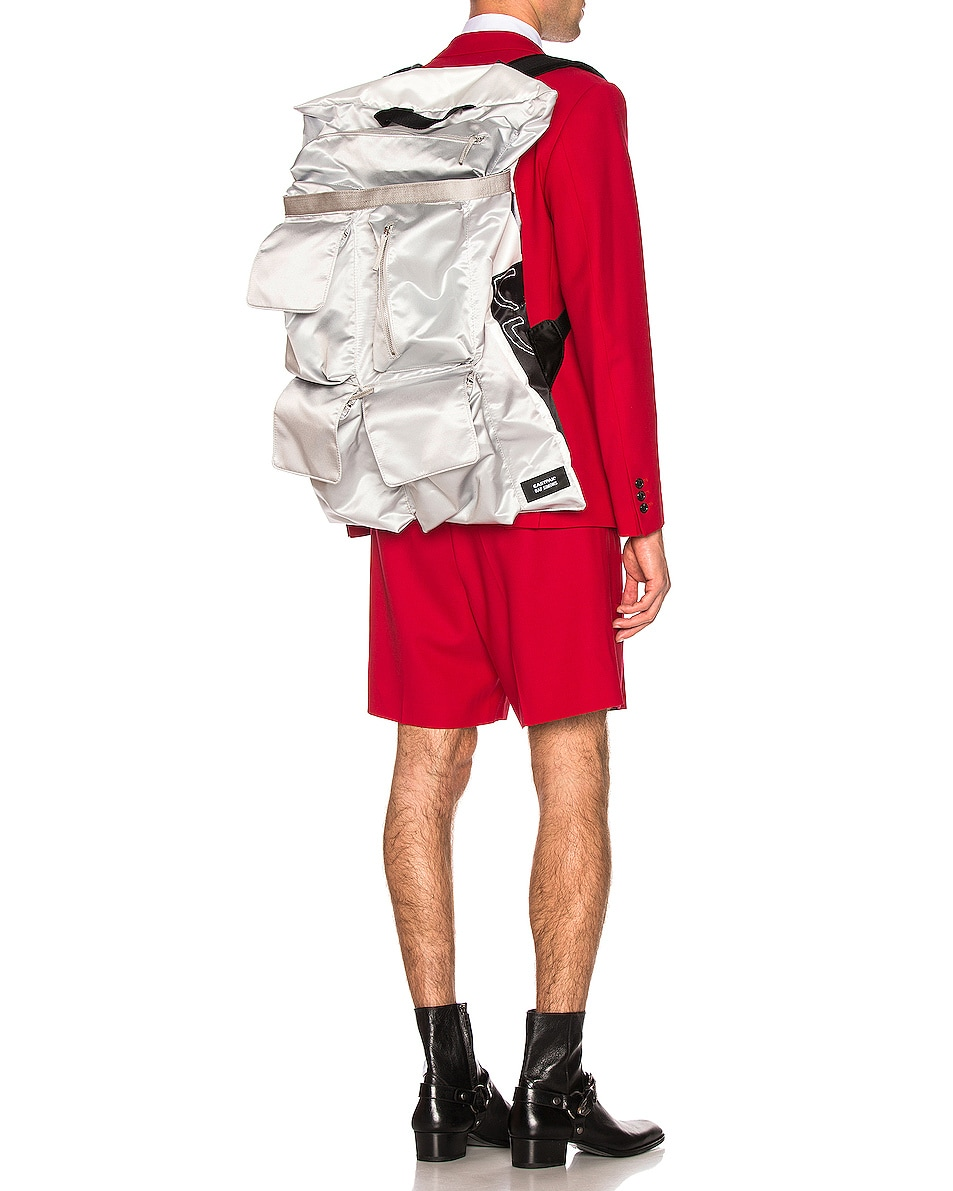 Image 2 of Raf Simons Eastpak Poster Backpack in Silver