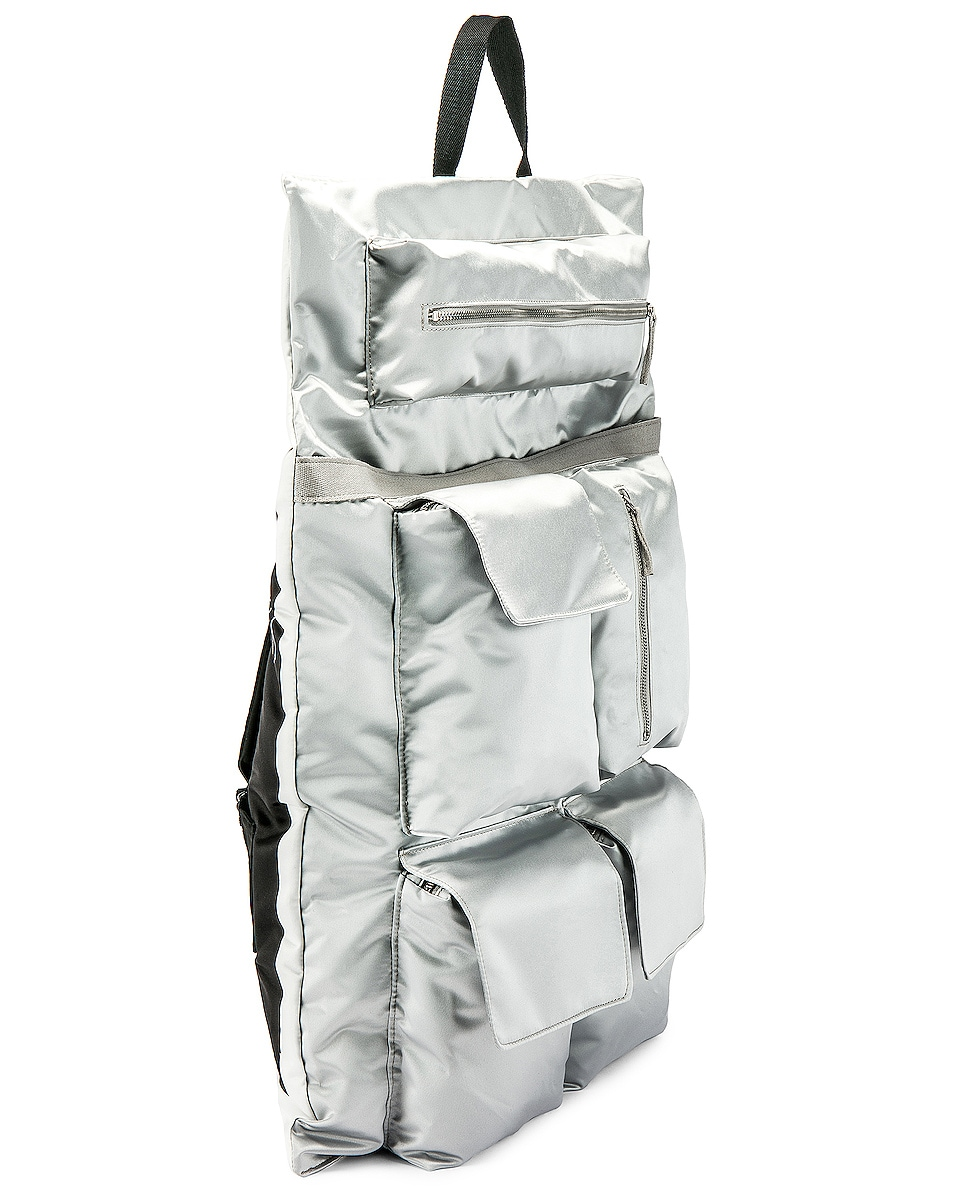 Image 5 of Raf Simons Eastpak Poster Backpack in Silver
