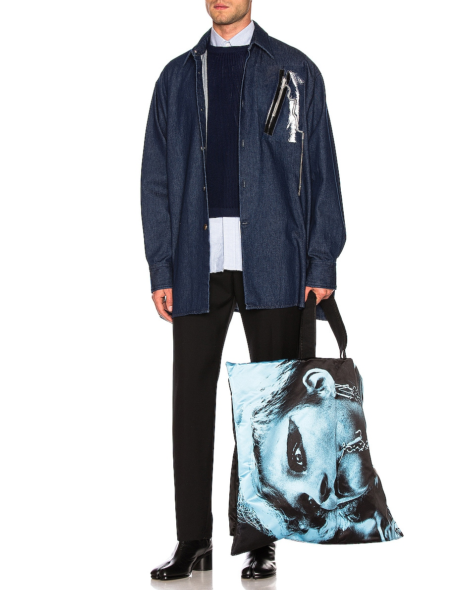 Image 2 of Raf Simons Eastpak Poster Tote in Black