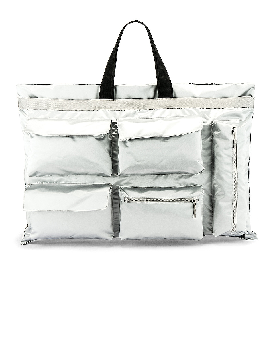Image 1 of Raf Simons Eastpak Poster Tote in Silver
