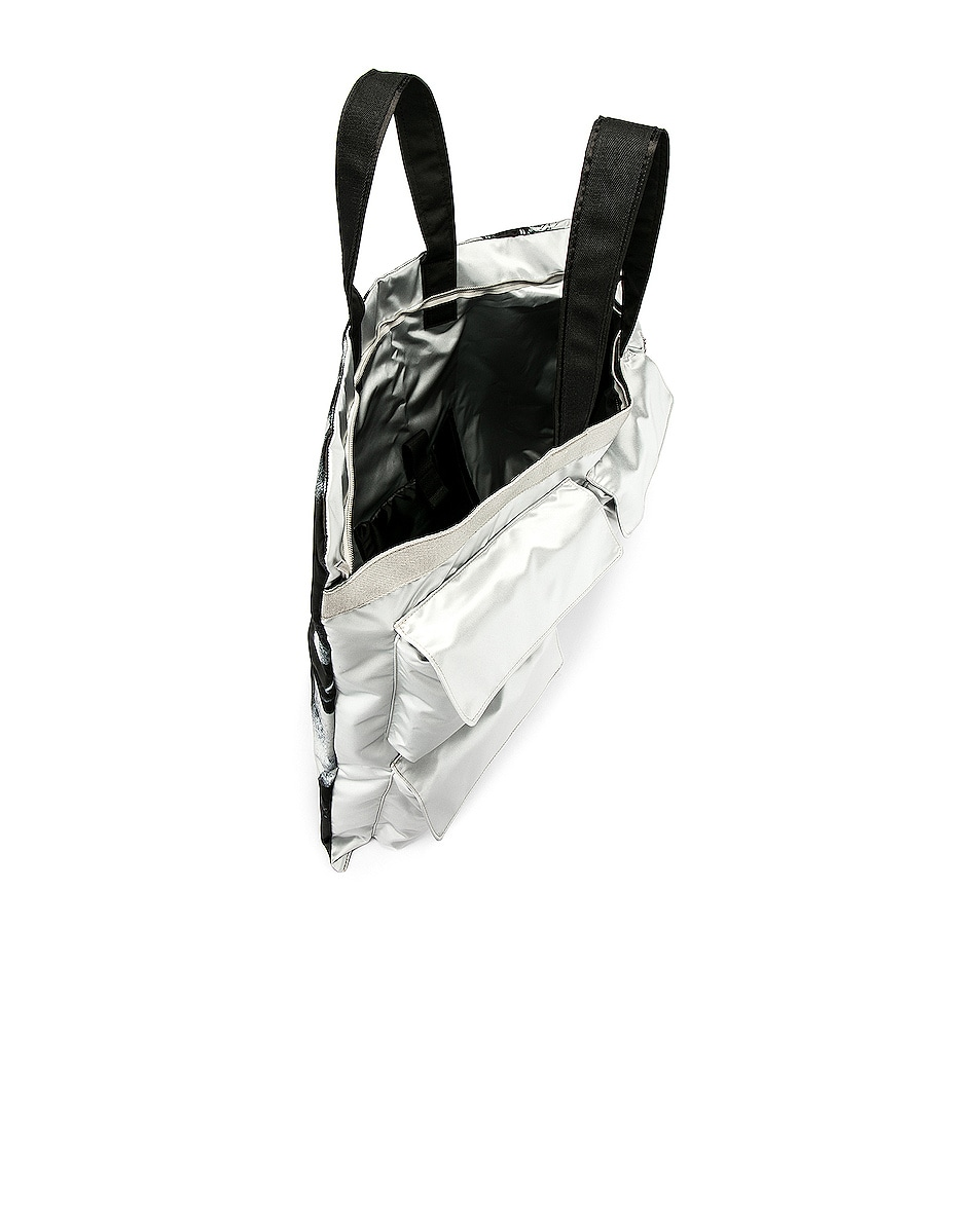 Image 5 of Raf Simons Eastpak Poster Tote in Silver