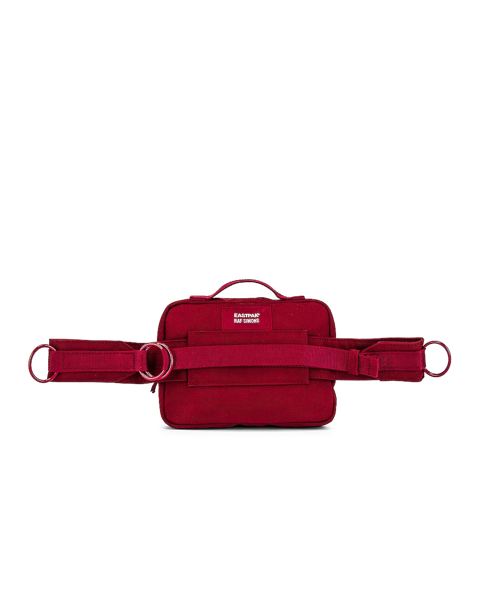 Image 2 of Raf Simons Loop Waistbag in Burgundy