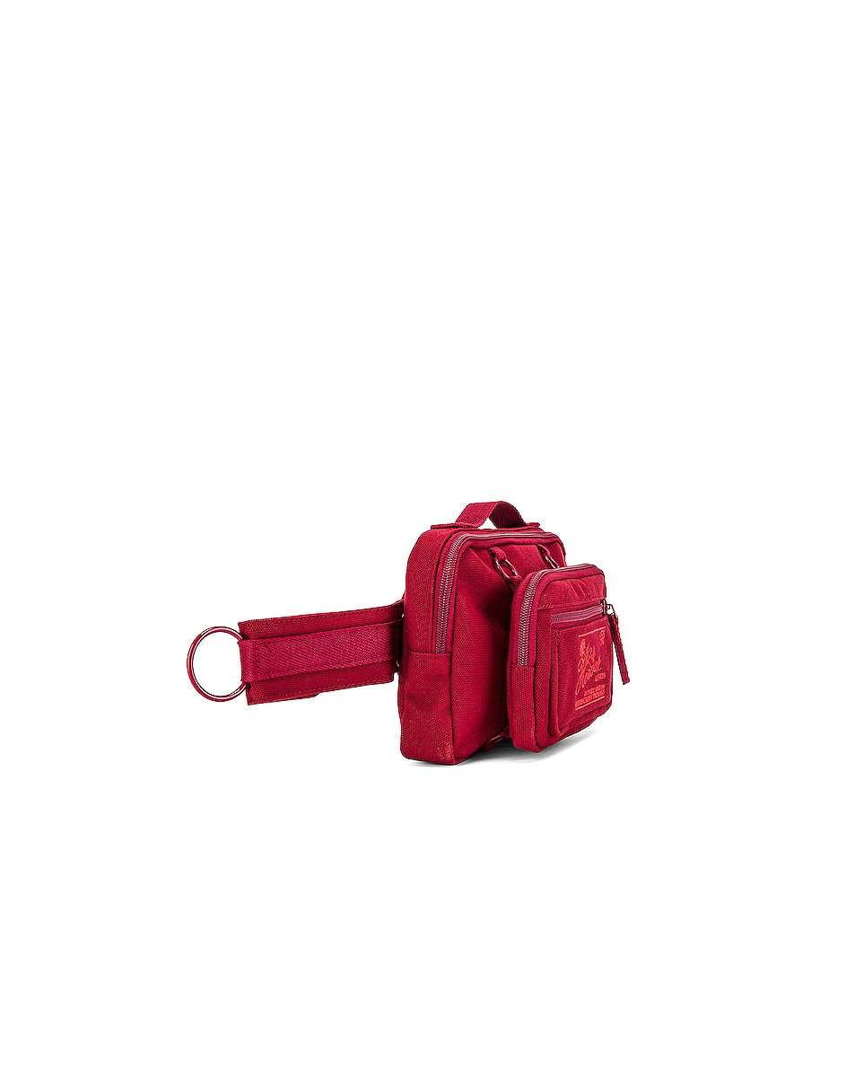 Image 3 of Raf Simons Loop Waistbag in Burgundy