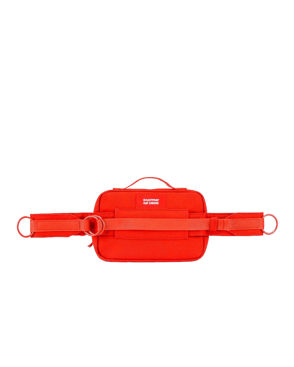 Image 2 of Raf Simons Loop Waistbag in Orange