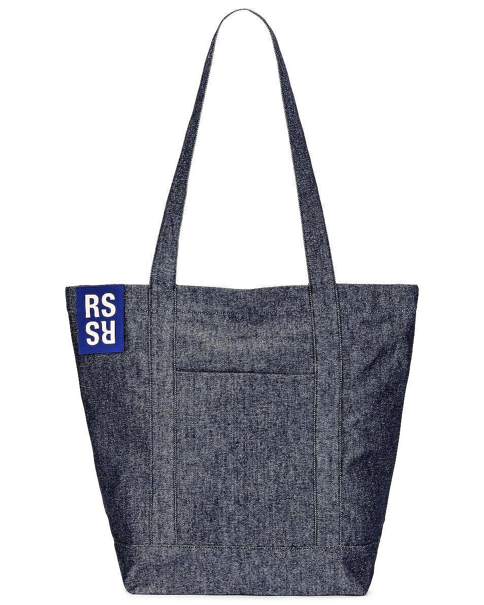 Image 1 of Raf Simons Denim Tote Bag in Dark Navy