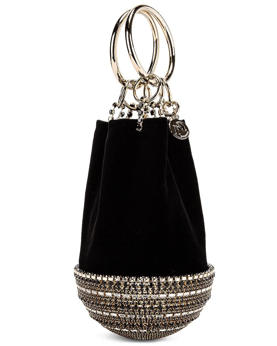 Image 4 of Rosantica Ghizlan Bag in Black Velvet & Crystals