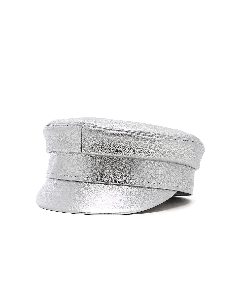 Image 2 of Ruslan Baginskiy for FWRD Baker Boy Cap in Silver